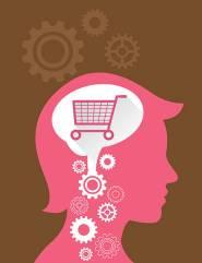 woman think shopping