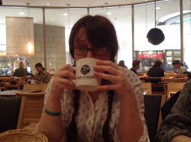 A Sakura Latte in Osaka