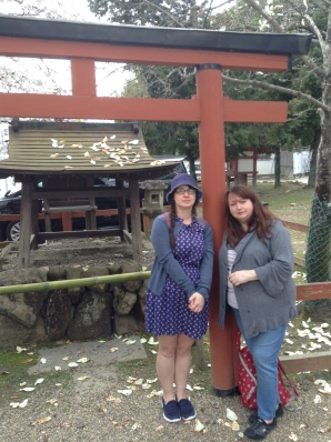 Chilling at a shrine in Nara