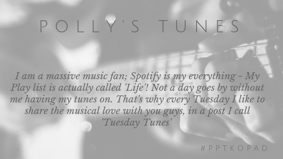 Polly's tunes in blog header every week