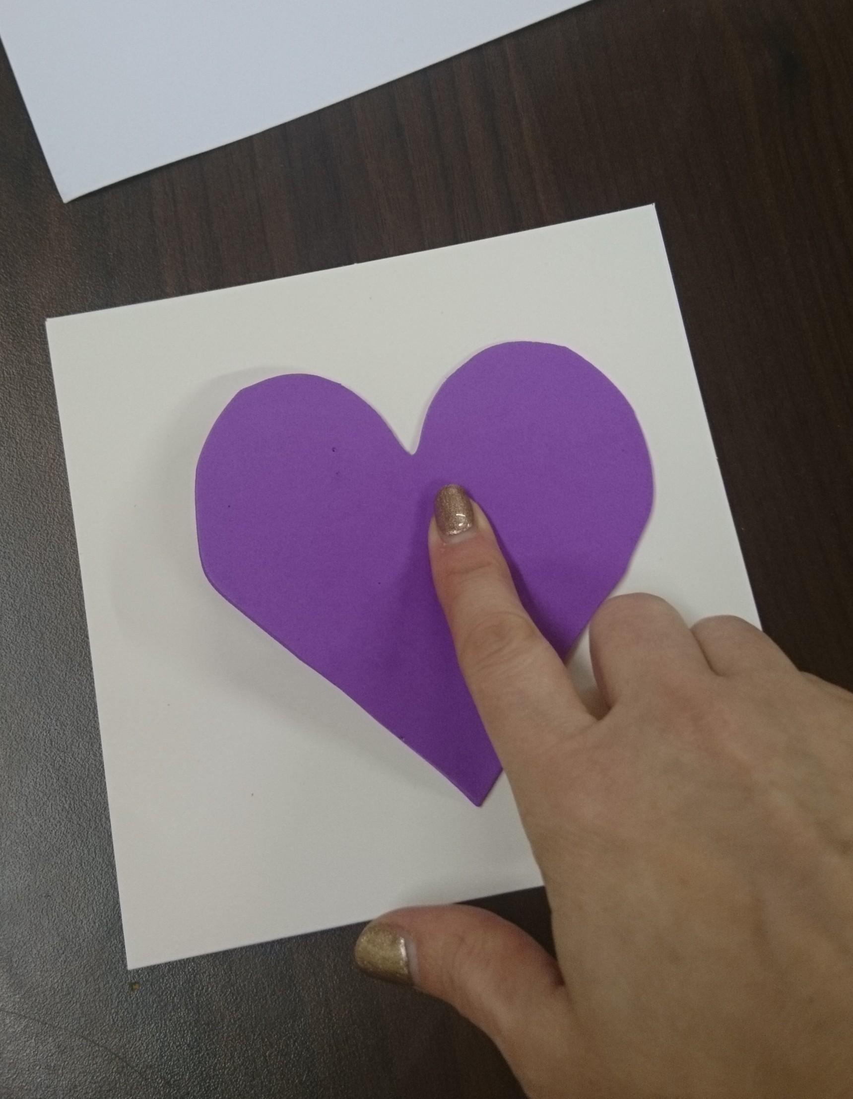 iris folding heart template