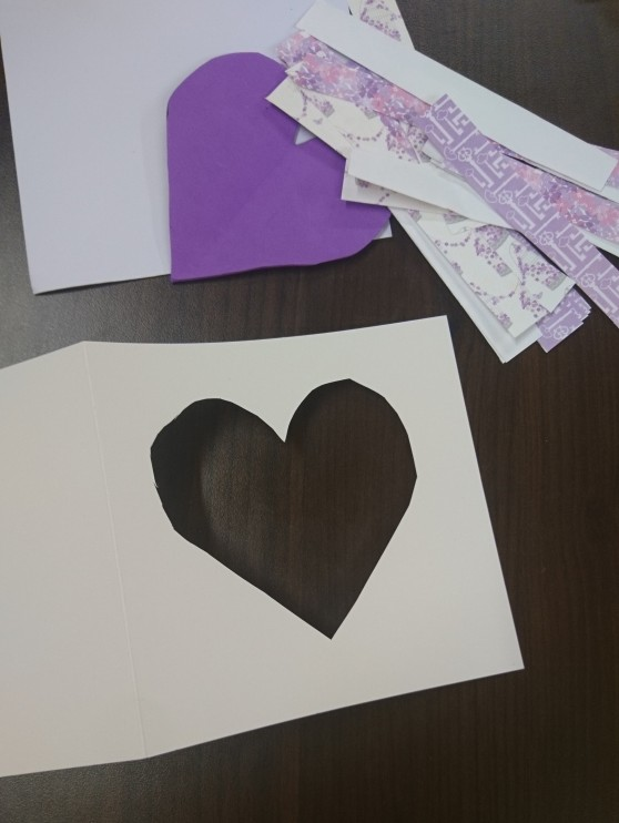 iris folding heart aperture with paper strips