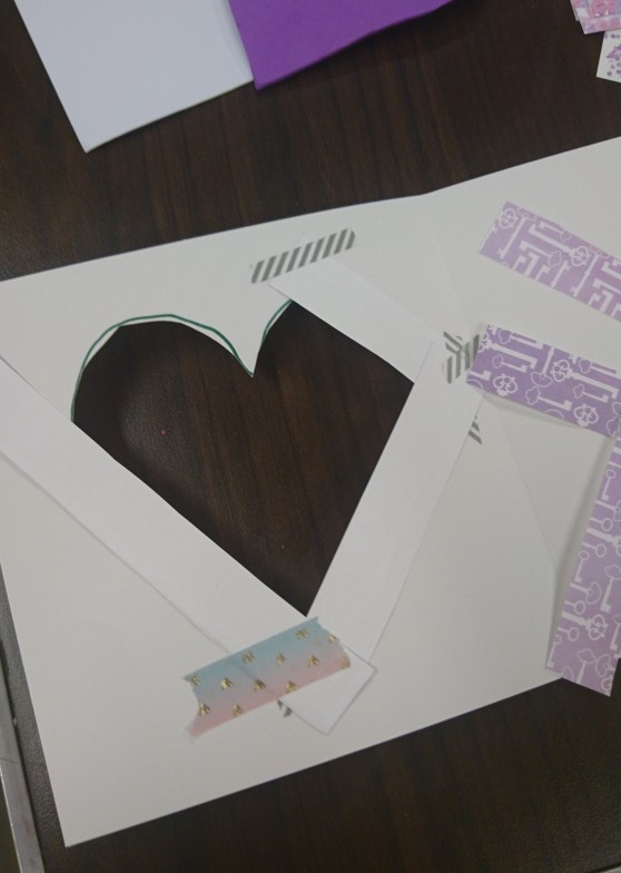 iris folding reverse side