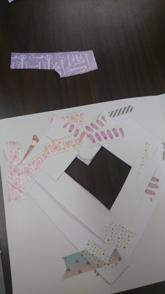 iris folding work in progress